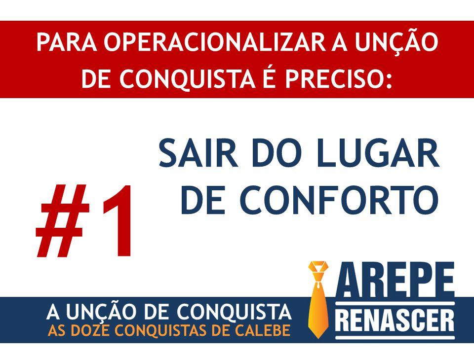 PARA OPERACIONALIZAR A UNÇÃO DE CONQUISTA É PRECISO: AS DOZE CONQUISTAS DE CALEBE SAIR DO LUGAR DE CONFORTO #1 A UNÇÃO DE CONQUISTA