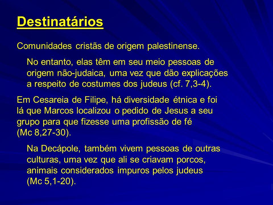 Destinatários Comunidades cristãs de origem palestinense. No entanto, elas têm em seu meio pessoas de origem não-judaica, uma vez que dão explicações