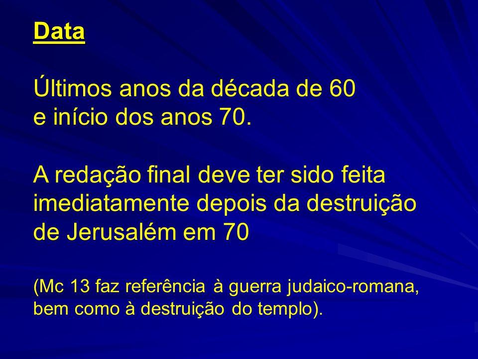 ÉPOCA APOSTÓLICA ÉPOCA APOSTÓLICA (1ª GERAÇÃO CRISTÃ: (1ª GERAÇÃO CRISTÃ: 30-70 d.C.) 30-70 d.C.)TESTEMUNHAR ÉPOCA SUB APOSTÓLICA (2ª GERAÇÃO: 70-100) (Quando não há mais testemunhas oculares vivas) MARCOS (+ 70) MATEUS (+ 90) LUCAS(+ 90-100) PRESERVAR Na origem de Marcos estão as IGREJAS (Comunidades) da GALILEIA ÉPOCA PÓS APOSTÓLICA (3ª GERAÇÃO: 100-130) JOÃO (+ 95-100) ORGANIZAR 35 Tradições orais 51 56 Primeiros escritos Cartas de Paulo
