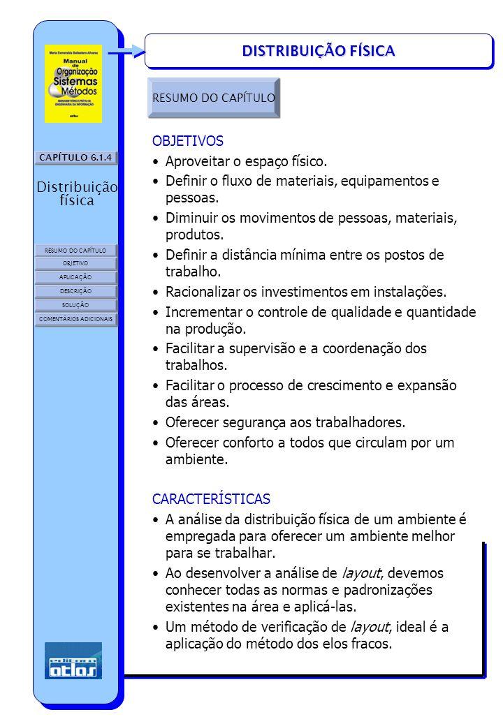 CAPÍTULO 6.1.4 RESUMO DO CAPÍTULO OBJETIVO SOLUÇÃO APLICAÇÃO DESCRIÇÃO Distribuição física COMENTÁRIOS ADICIONAIS DISTRIBUIÇÃO FÍSICA RESUMO DO CAPÍTU