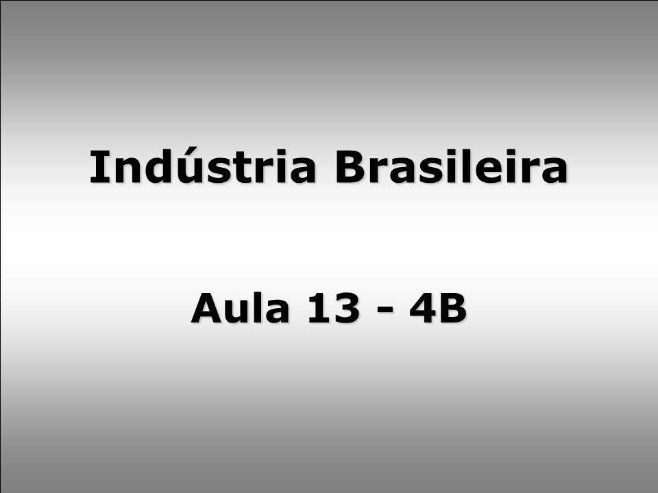 Indústria Brasileira Aula 13 - 4B