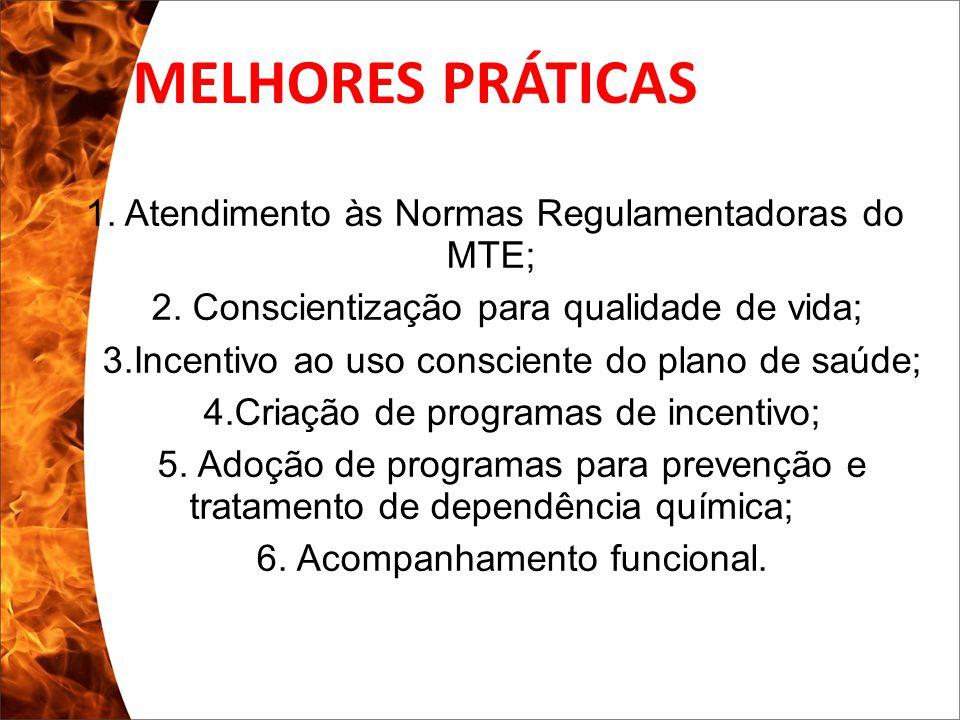 Clique para editar o estilo do subtítulo mestre 13/10/10 1. Atendimento às Normas Regulamentadoras do MTE; 2. Conscientização para qualidade de vida;