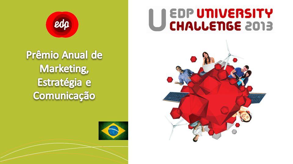 O EDP University Challenge 2013 tem por finalidade atribuir um prêmio ao melhor trabalho nas áreas de administração, estratégia, marketing, comunicação e design (ou outra área desde que comprove conhecimentos no âmbito do prêmio) apresentado pelos alunos universitários das principais escolas de todo o Brasil.