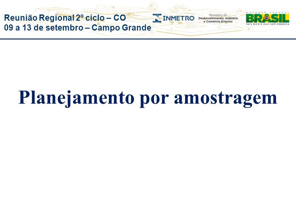 Reunião Regional 2º ciclo – CO 09 a 13 de setembro – Campo Grande Planejamento por amostragem