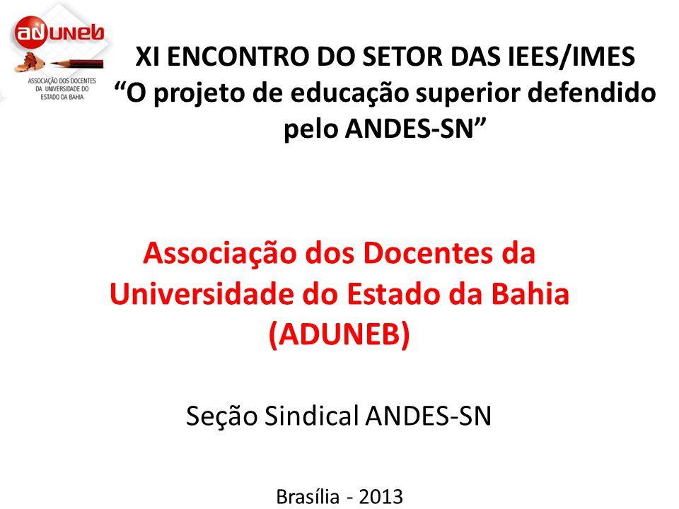 Como a direção da ADUNEB está organizada.