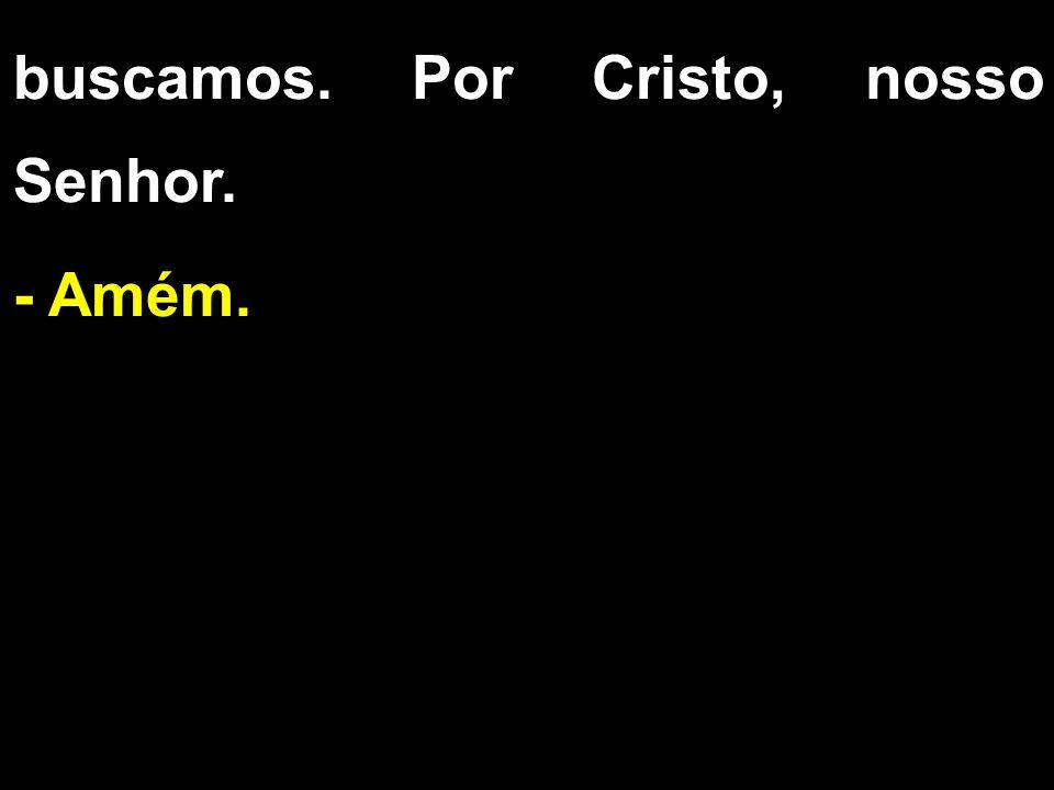 buscamos. Por Cristo, nosso Senhor. - Amém.