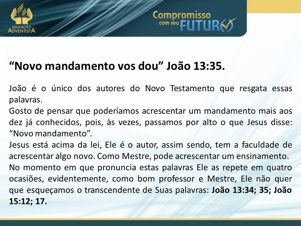 """""""Novo mandamento vos dou"""" João 13:35. João é o único dos autores do Novo Testamento que resgata essas palavras. Gosto de pensar que poderíamos acresce"""