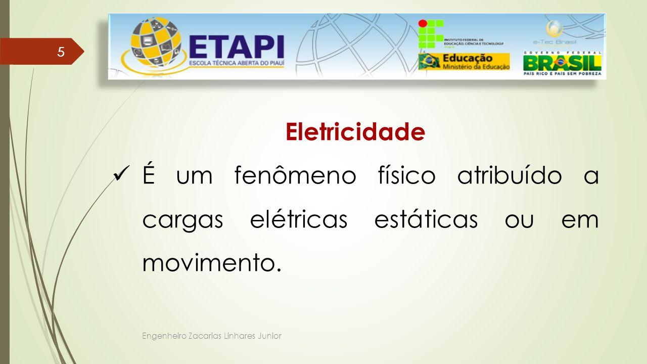Engenheiro Zacarias Linhares Junior 55 Eletricidade É um fenômeno físico atribuído a cargas elétricas estáticas ou em movimento.