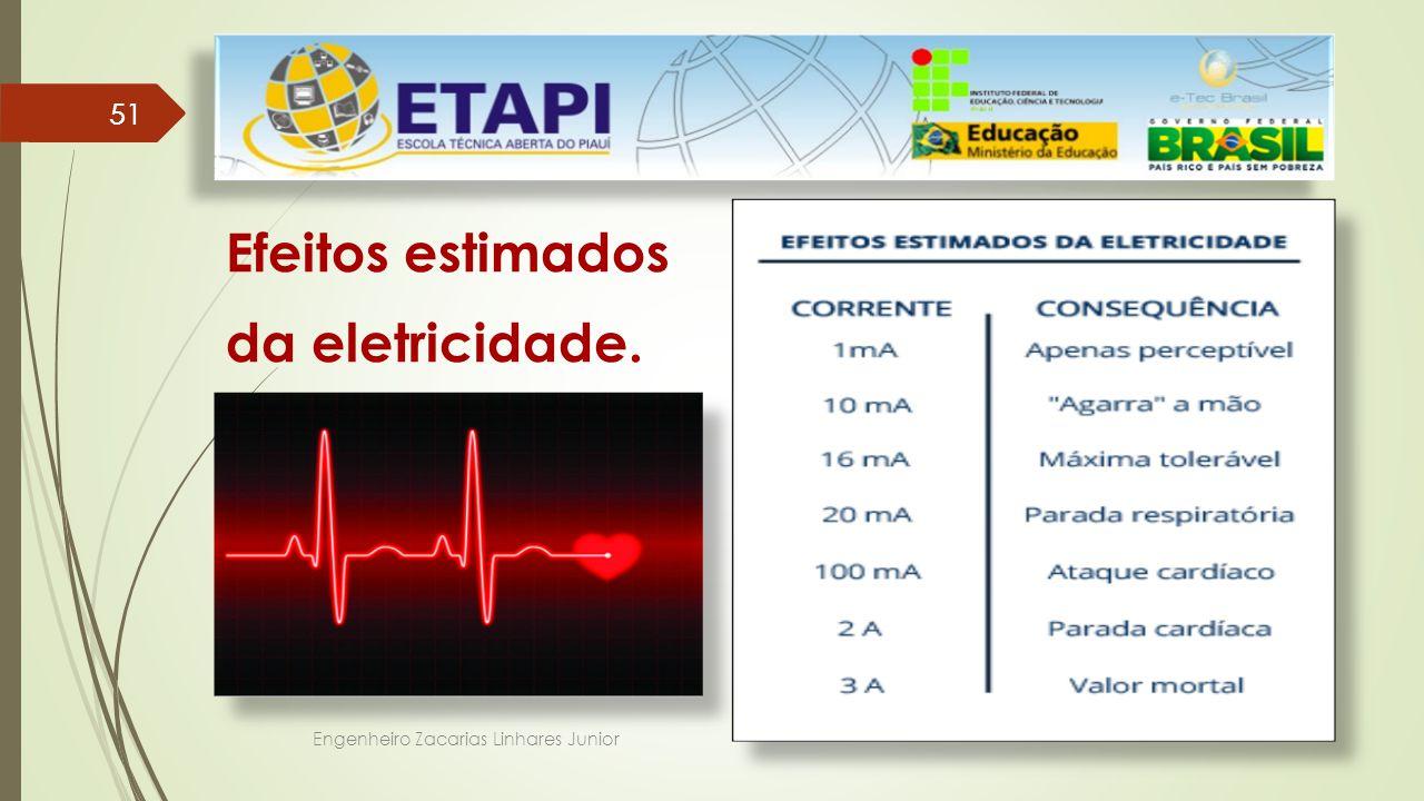Engenheiro Zacarias Linhares Junior 51 Efeitos estimados da eletricidade.