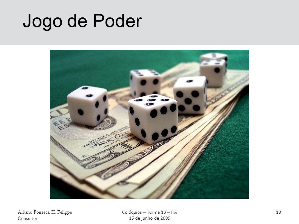 Jogo de Poder Albano Fonseca H. Felippe Consultor 18Colóquios – Turma 13 – ITA 16 de junho de 2009