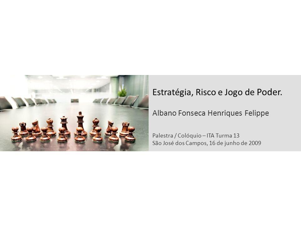 Estratégia, Risco e Jogo de Poder. Albano Fonseca Henriques Felippe Palestra / Colóquio – ITA Turma 13 São José dos Campos, 16 de junho de 2009