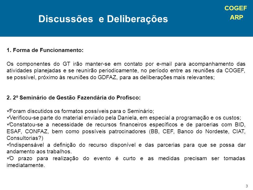 COGEF ARP 4 Discussões e Deliberações 3.