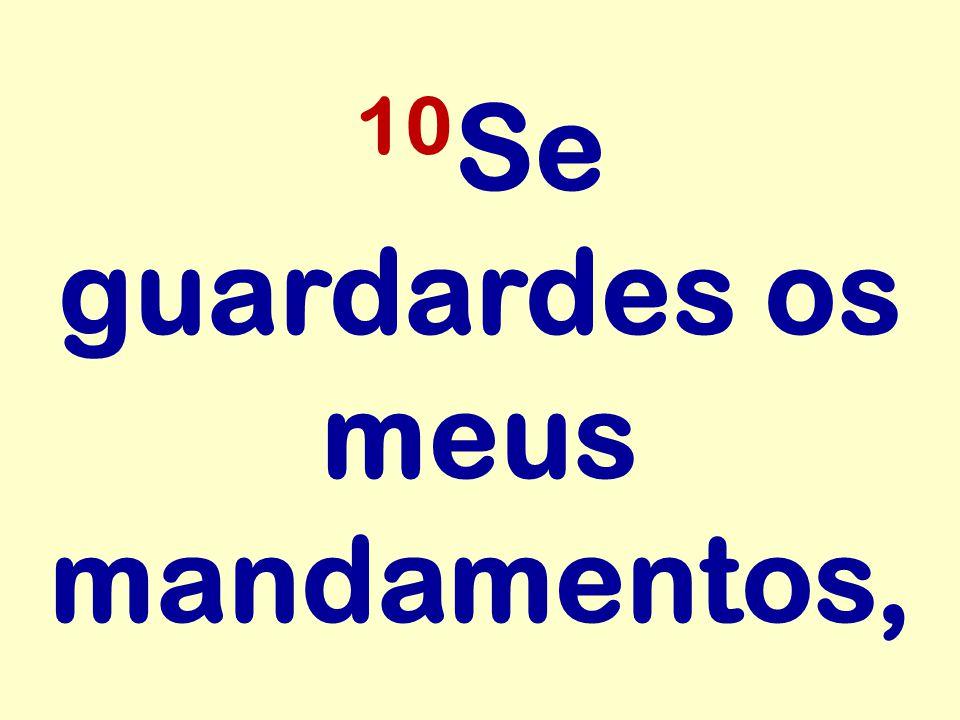 10 Se guardardes os meus mandamentos,