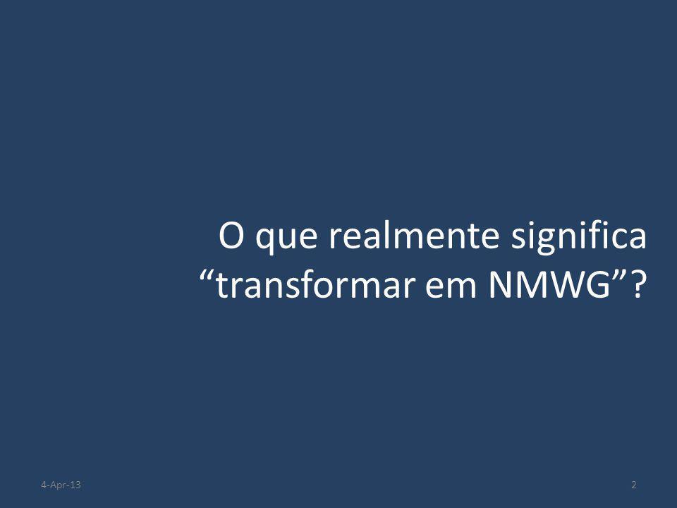 """O que realmente significa """"transformar em NMWG""""? 24-Apr-13"""