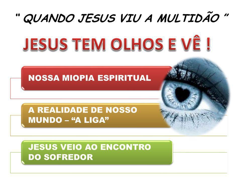 QUANDO JESUS VIU A MULTIDÃO NOSSA MIOPIA ESPIRITUAL A REALIDADE DE NOSSO MUNDO – A LIGA JESUS VEIO AO ENCONTRO DO SOFREDOR