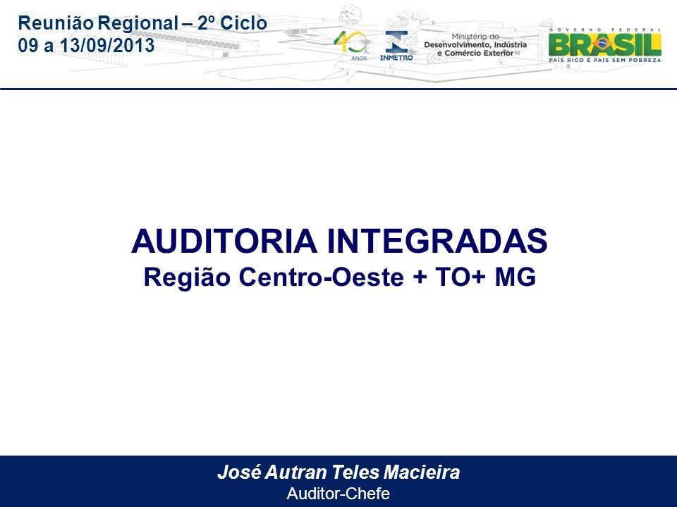 Reunião Regional – 2º Ciclo 09 a 13/09/2013 Região Centro-Oeste Goiás - Surgo Tocantins – IPEM/TO Minas Gerais – IPEM/MG Mato Grosso – IPEM/MT Mato Grosso do Sul – AEM/MS
