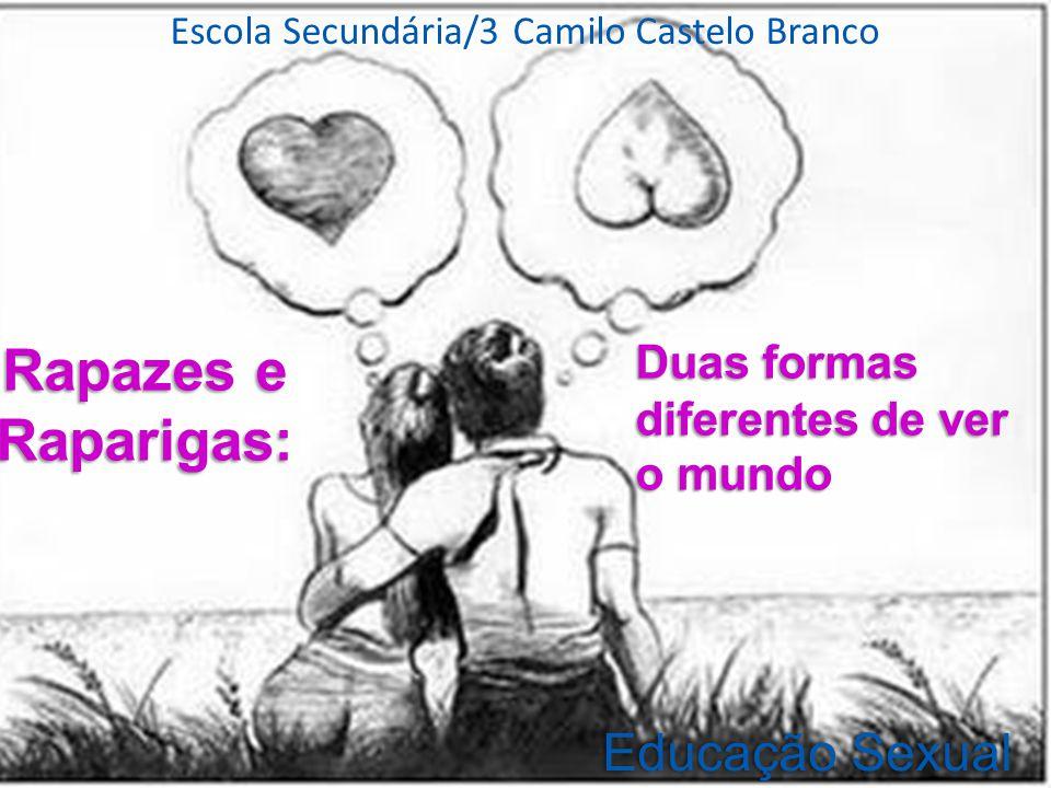 Escola Secundária/3 Camilo Castelo Branco Rapazes e Raparigas: Educação SexualEducação Sexual Duas formas diferentes de ver o mundo