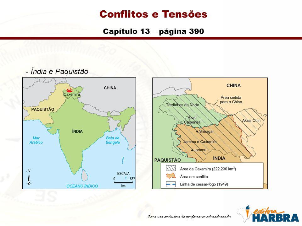 Para uso exclusivo de professores adotadores da Conflitos e Tensões Capítulo 13 – página 390 - Índia e Paquistão