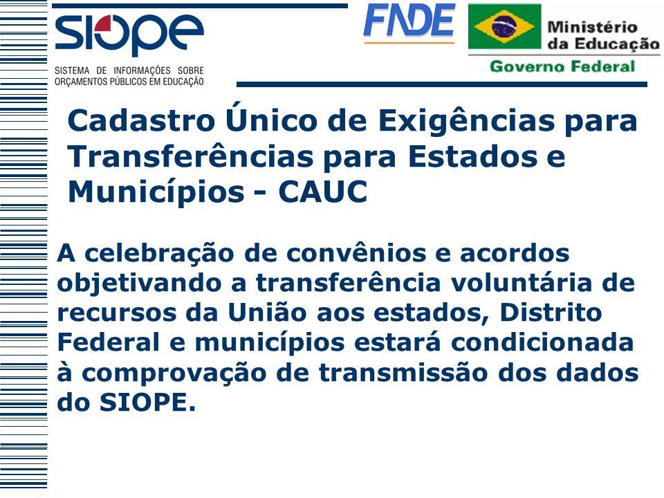 A celebração de convênios e acordos objetivando a transferência voluntária de recursos da União aos estados, Distrito Federal e municípios estará cond