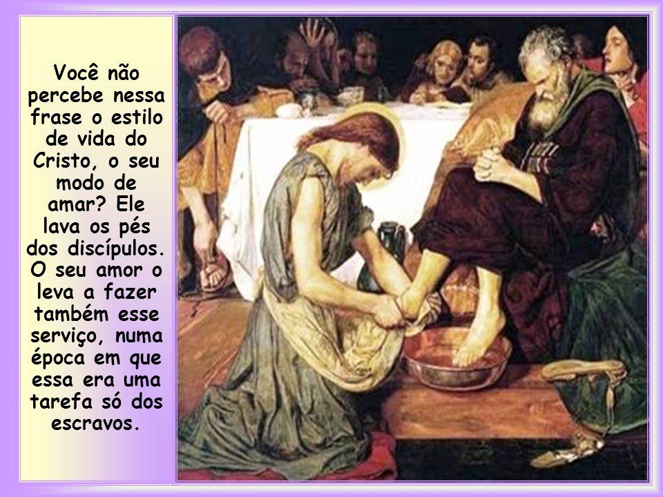 """""""Tendo amado os seus que estavam no mundo, amou-os até o fim"""" (Jo 13, 1)."""