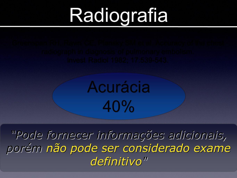 Diâmetro da VCS Imagens em TEP Araoz PA et al.Radiology.242:889;2007 Diâmetro > 20mm