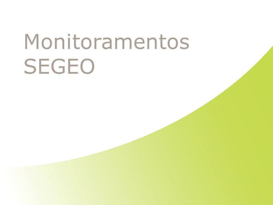 Monitoramentos SEGEO