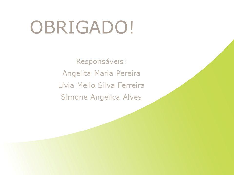 OBRIGADO! Responsáveis: Angelita Maria Pereira Lívia Mello Silva Ferreira Simone Angelica Alves