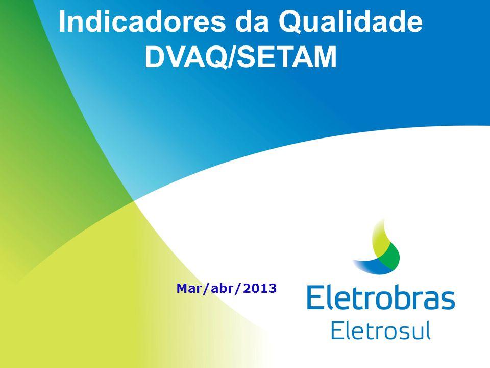 Indicadores da Qualidade DVAQ/SETAM Mar/abr/2013