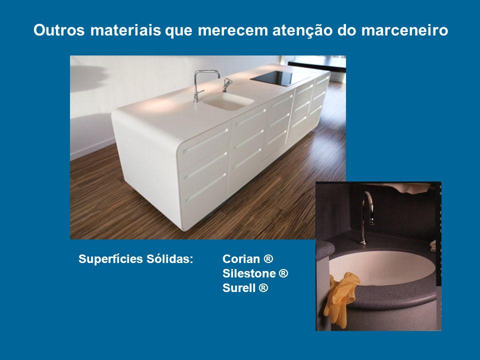 Superfícies Sólidas: Corian ® Silestone ® Surell ® Outros materiais que merecem atenção do marceneiro