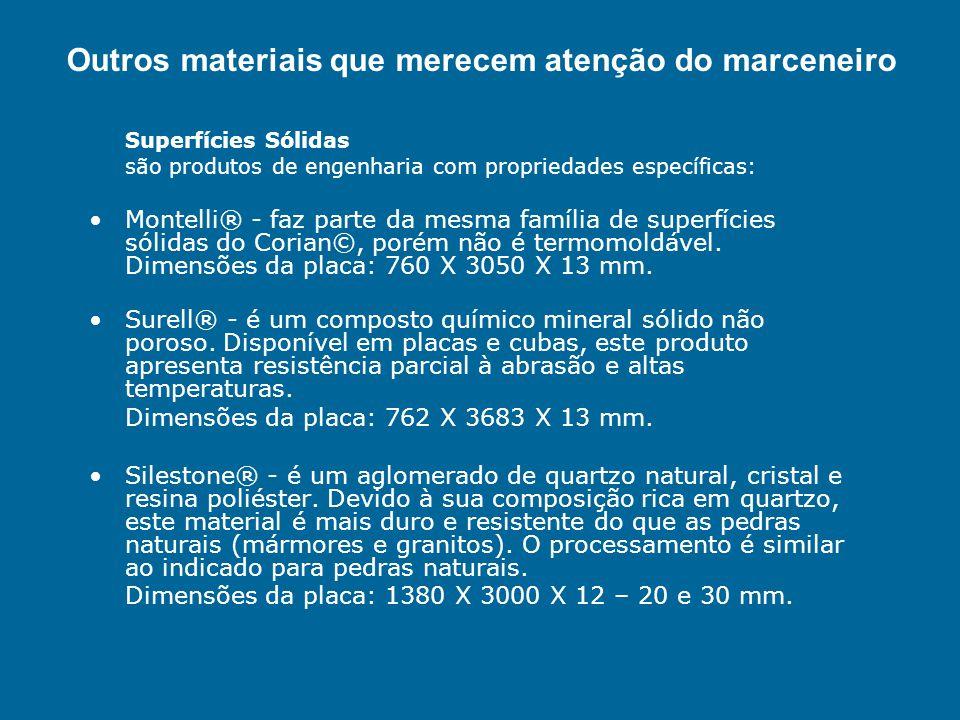Superfícies Sólidas são produtos de engenharia com propriedades específicas: Montelli® - faz parte da mesma família de superfícies sólidas do Corian©,