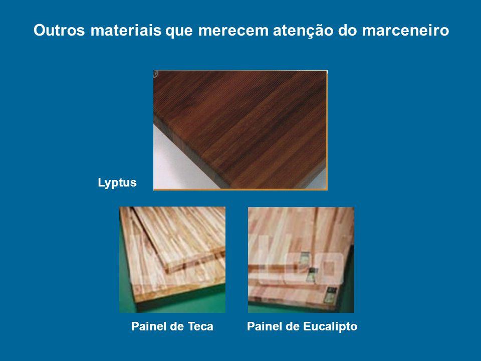 Lyptus Painel de Eucalipto Painel de Teca Outros materiais que merecem atenção do marceneiro