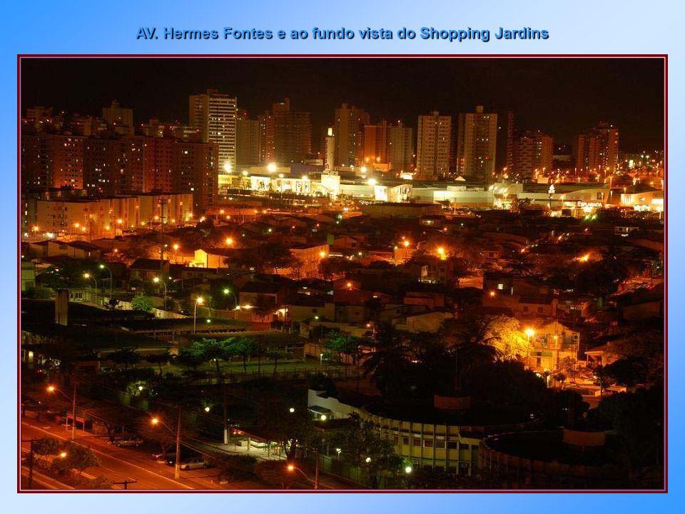 Centro da cidade vendo-se ao fundo a Ponte Aracaju - Barra dos Coqueiros.