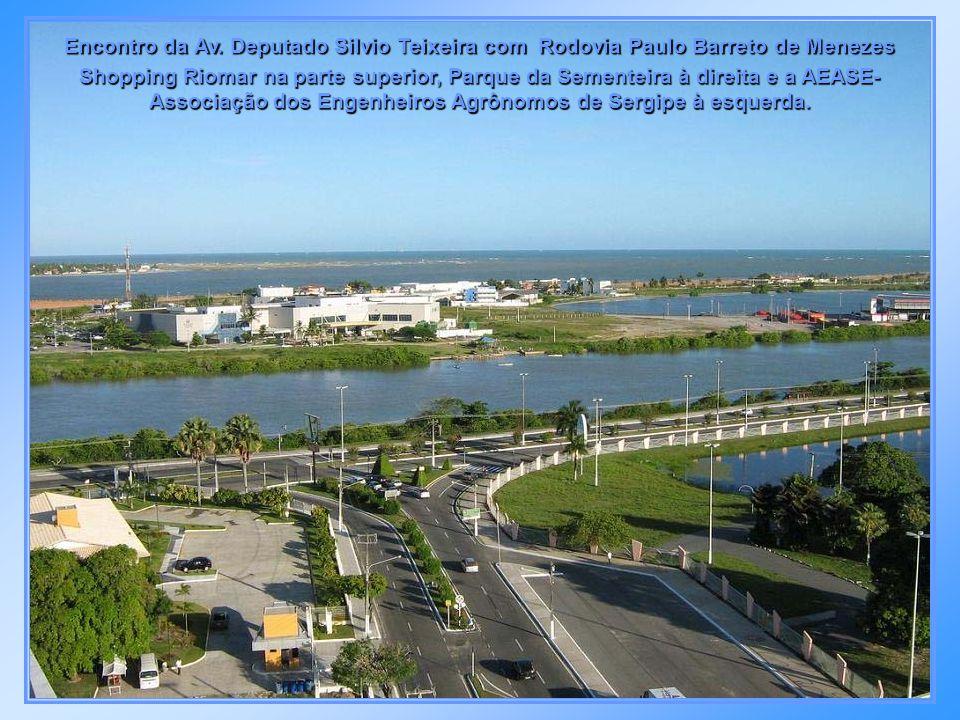 Avenida Beira Mar e ponte que dá acesso à Coroa do Meio - Shopping Riomar