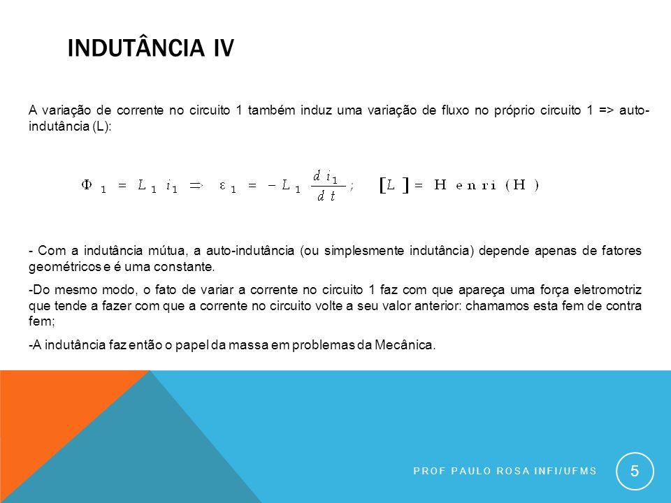 PROF PAULO ROSA INFI/UFMS 16 Estas equações nos fornecem os campos criados por cargas e correntes.