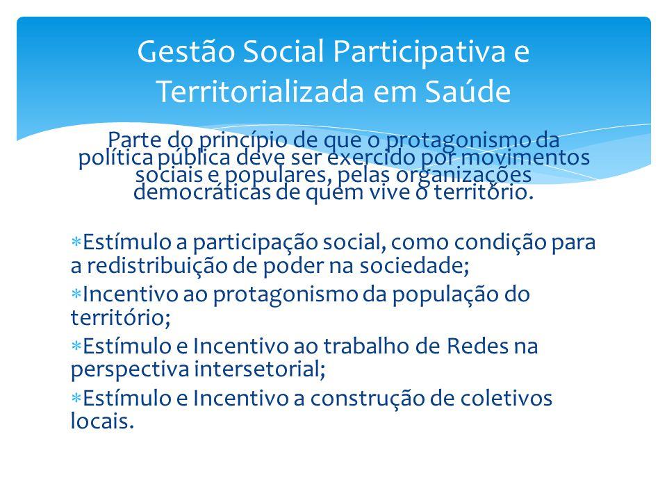 Parte do princípio de que o protagonismo da política pública deve ser exercido por movimentos sociais e populares, pelas organizações democráticas de