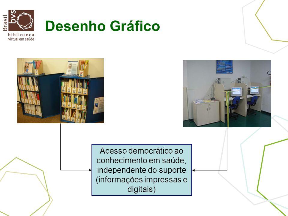 Desenho Gráfico Acesso democrático ao conhecimento em saúde, independente do suporte (informações impressas e digitais)