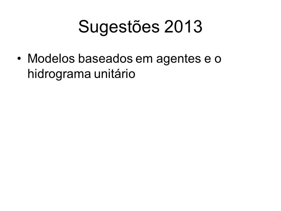 Sugestões 2013 Modelos baseados em agentes e o hidrograma unitário