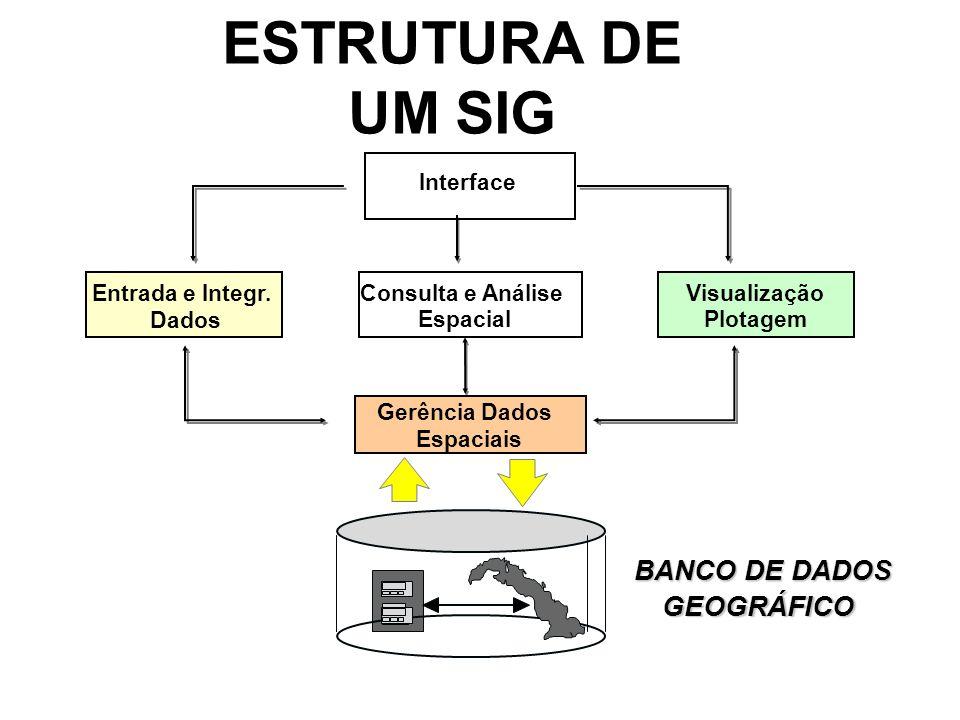 ESTRUTURA DE UM SIG Interface Entrada e Integr.