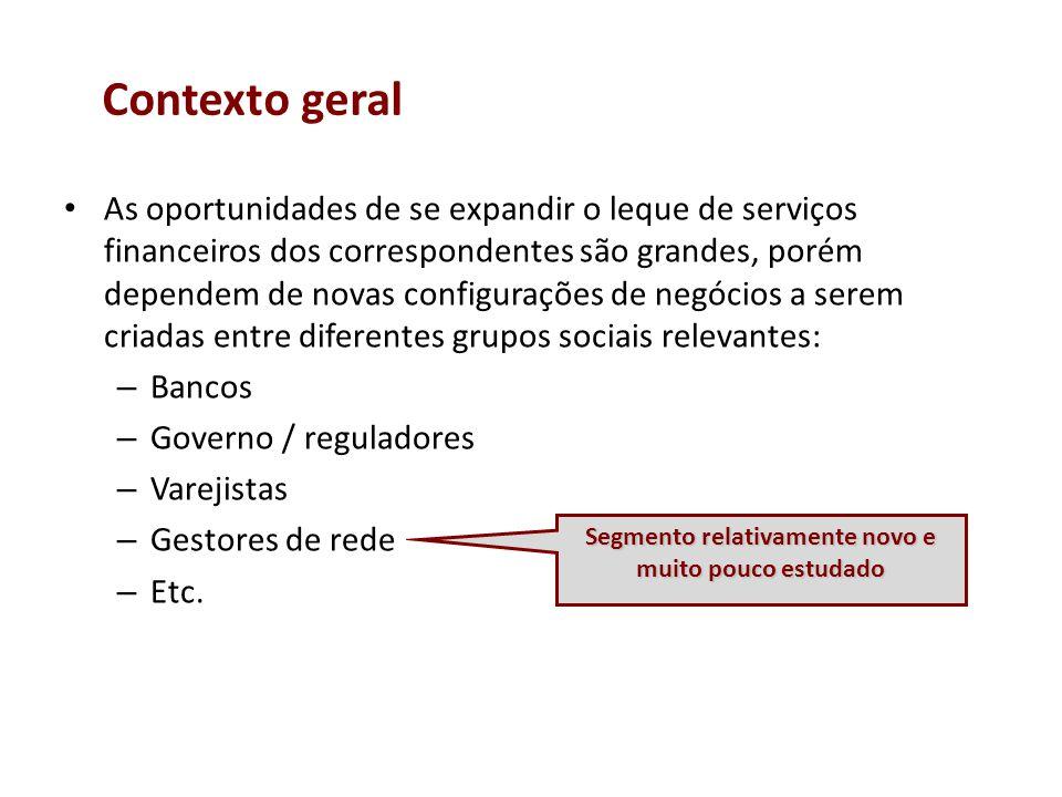 As oportunidades de se expandir o leque de serviços financeiros dos correspondentes são grandes, porém dependem de novas configurações de negócios a s