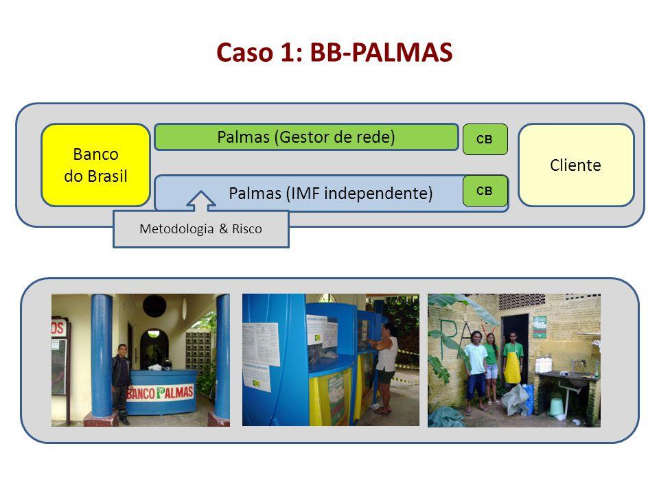 Caso 1: BB-PALMAS Banco do Brasil Palmas (Gestor de rede) Cliente Palmas (IMF independente) CB Metodologia & Risco