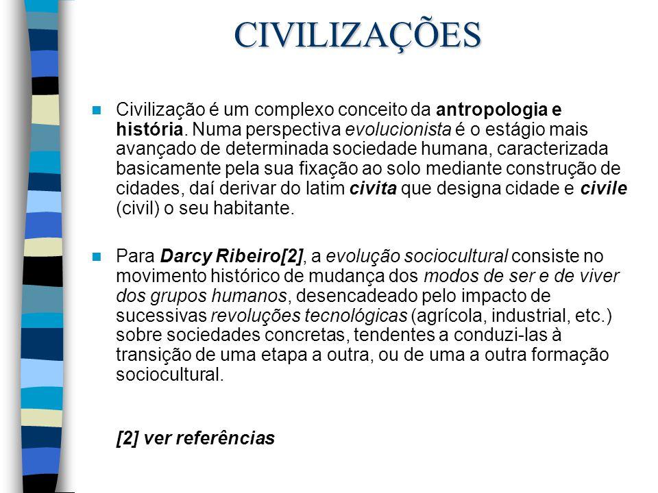 Civilização é um complexo conceito da antropologia e história. Numa perspectiva evolucionista é o estágio mais avançado de determinada sociedade human