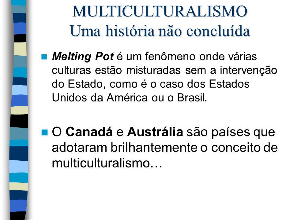 Melting Pot é um fenômeno onde várias culturas estão misturadas sem a intervenção do Estado, como é o caso dos Estados Unidos da América ou o Brasil.