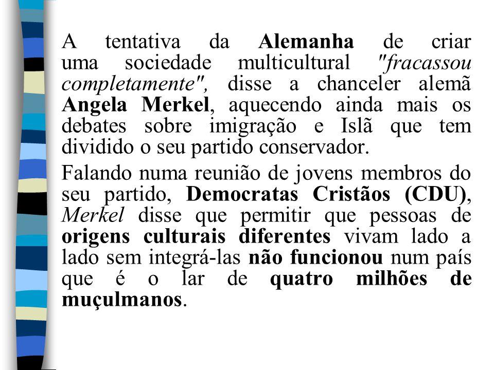 A tentativa da Alemanha de criar uma sociedade multicultural