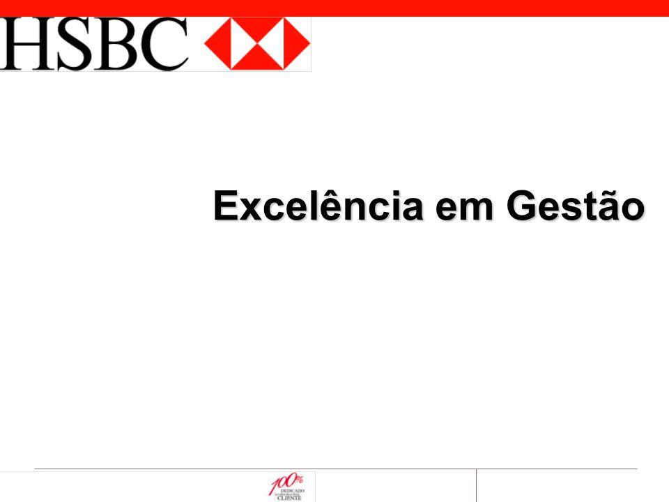 © 2003 HSBCQHBBRExcelência em Gestão 2 Visão, Missão e Valores Visão  Ser o melhor grupo financeiro do Brasil em geração de valor para Clientes, Acionistas e Funcionários Missão  Garantir a excelência na entrega de produtos e serviços financeiros, maximizando valor para Clientes & Acionistas Valores  Nossa conduta deve refletir os mais altos padrões de ética;  Nossa comunicação deve ser clara e precisa;  Nosso gerenciamento deve ser em equipe, consistente e focado;  Nosso relacionamento com clientes e funcionários deve ser transparente e baseado na responsabilidade e confiança entre as partes.