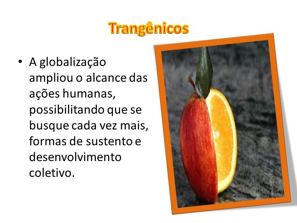 A globalização ampliou o alcance das ações humanas, possibilitando que se busque cada vez mais, formas de sustento e desenvolvimento coletivo.