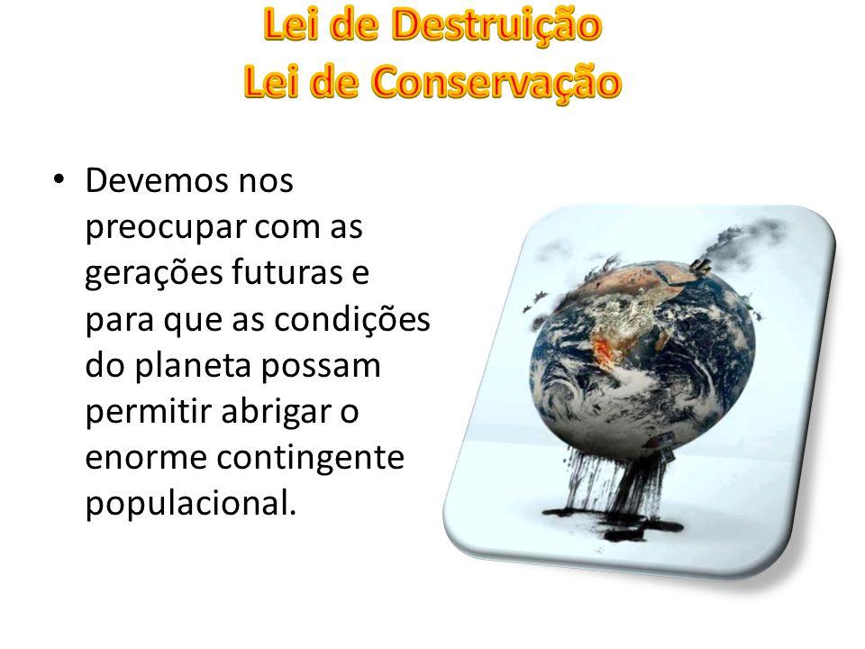 Devemos nos preocupar com as gerações futuras e para que as condições do planeta possam permitir abrigar o enorme contingente populacional.