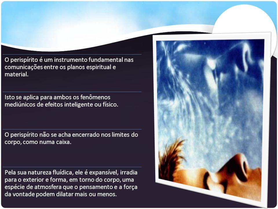 O perispírito é um instrumento fundamental nas comunicações entre os planos espiritual e material. Isto se aplica para ambos os fenômenos mediúnicos d