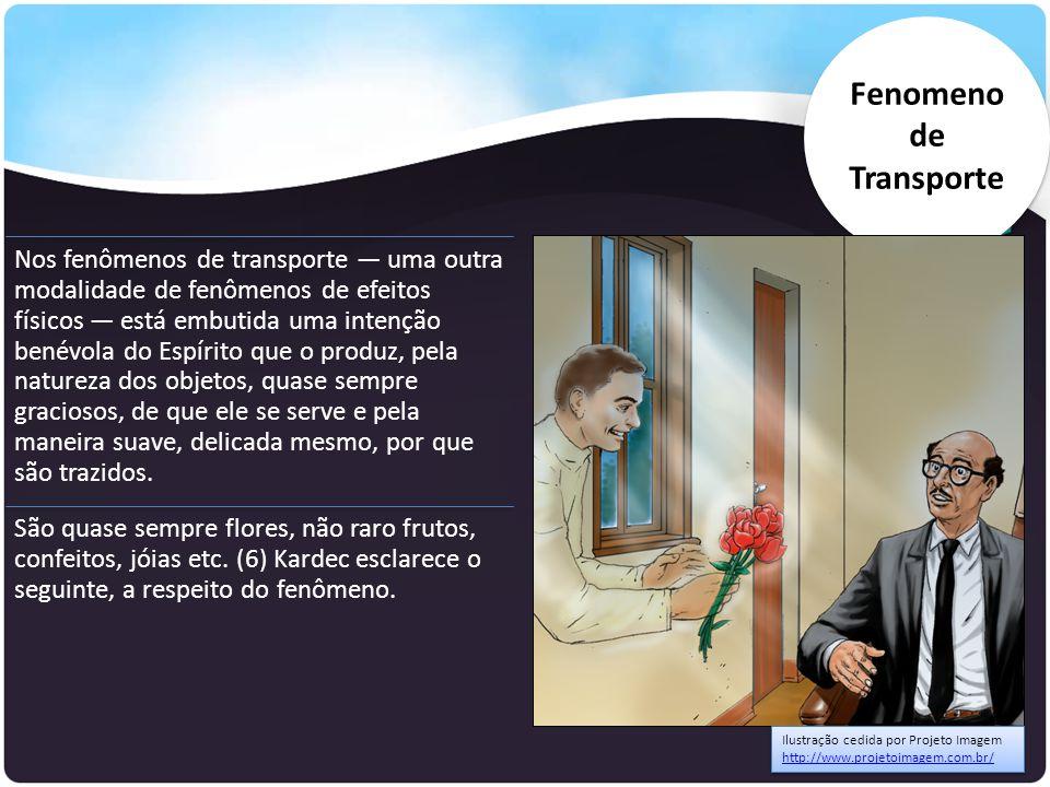 Nos fenômenos de transporte — uma outra modalidade de fenômenos de efeitos físicos — está embutida uma intenção benévola do Espírito que o produz, pel