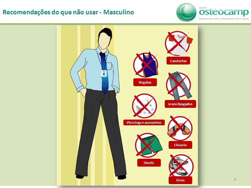 8 Recomendações do que não usar - Masculino Camisetas Regatas Jeans Rasgados Piercings e acessórios Shorts Tênis Chinelo