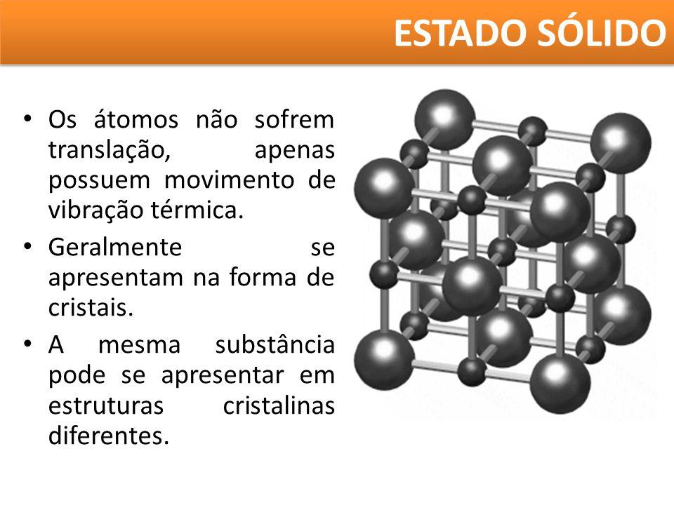 FUSÃO E SOLIDIFICAÇÃO A uma dada pressão, a temperatura na qual ocorre a fusão é bem determinada para cada substância.